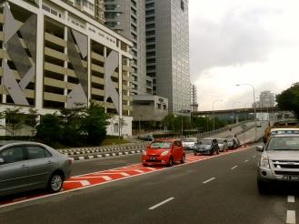 Traffic in Kuala Lumpur