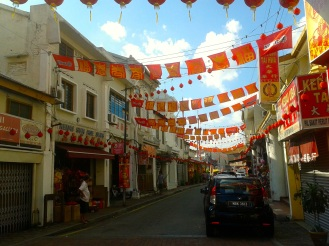 Chinatown in Melaka