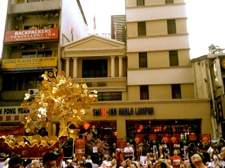 Chinatown during Chinese New Year celebration in Kuala Lumpur